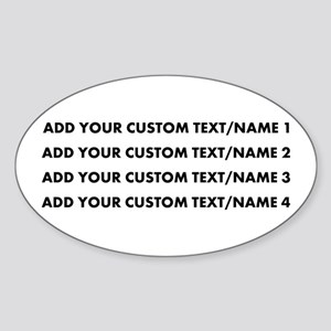 Add Custom Text/Name Sticker