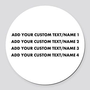 Add Custom Text/Name Round Car Magnet