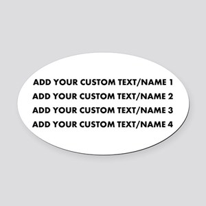 Add Custom Text/Name Oval Car Magnet