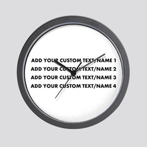 Add Custom Text/Name Wall Clock
