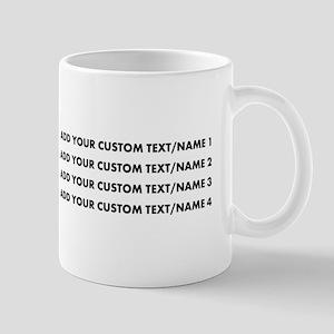 Add Custom Text/Name Mugs