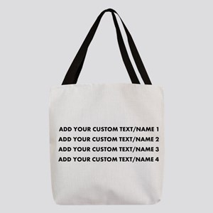 Add Custom Text/Name Polyester Tote Bag