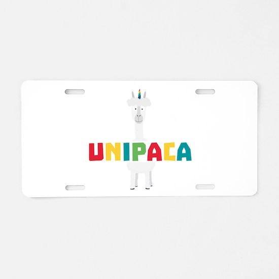 Alpaca Rainbow Unicorn C0gh Aluminum License Plate