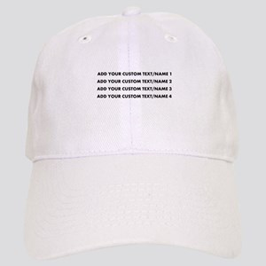 Add Custom Text/Name Baseball Cap