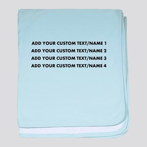 Add Custom Text/Name baby blanket