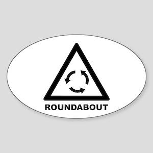 Roundabout Oval Sticker