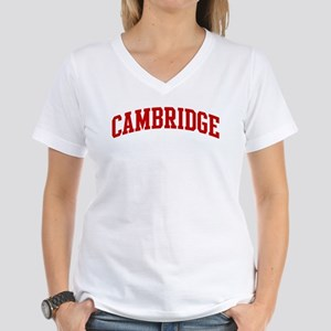 CAMBRIDGE (red) Women's V-Neck T-Shirt