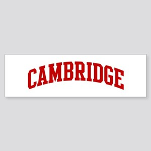 CAMBRIDGE (red) Bumper Sticker