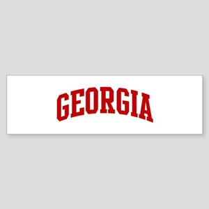 GEORGIA (red) Bumper Sticker