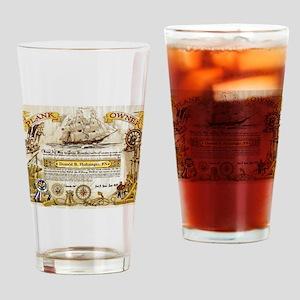 CVA-67 Plankowner Drinking Glass