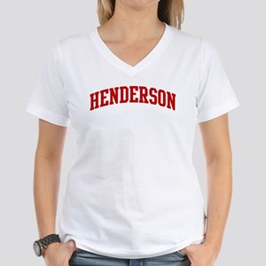 HENDERSON (red) Women's V-Neck T-Shirt