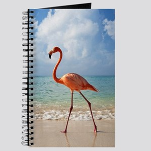 Flamingo On The Beach Journal