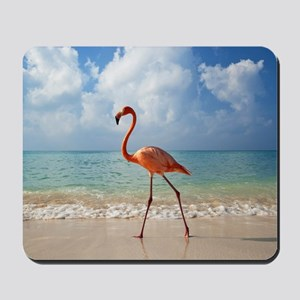 Flamingo On The Beach Mousepad