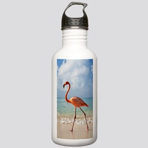 Flamingo On The Beach Water Bottle