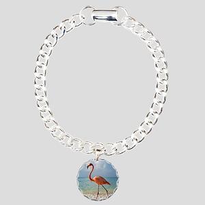 Flamingo On The Beach Bracelet