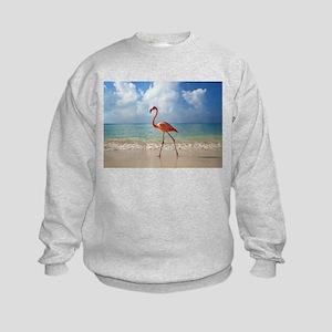 Flamingo On The Beach Sweatshirt