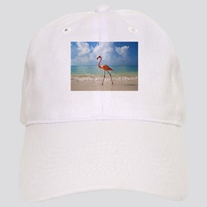 Flamingo On The Beach Baseball Cap