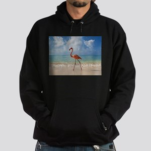 Flamingo On The Beach Hoodie