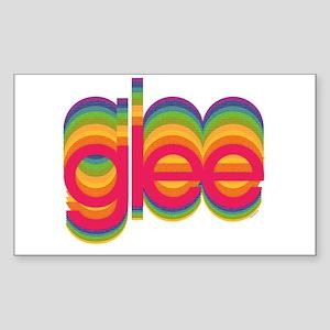 Glee Colorful Logo Sticker (Rectangle)