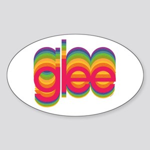 Glee Colorful Logo Sticker (Oval)