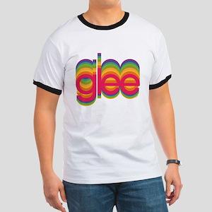Glee Colorful Logo Ringer T