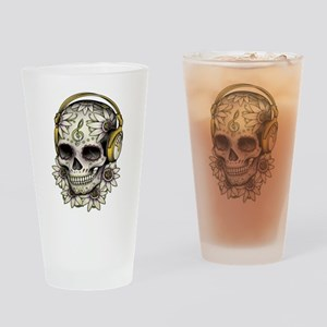 Sugar Skull 008 Drinking Glass