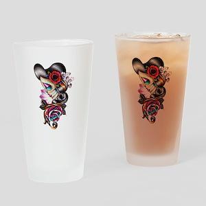 Sugar Skull 075 Drinking Glass