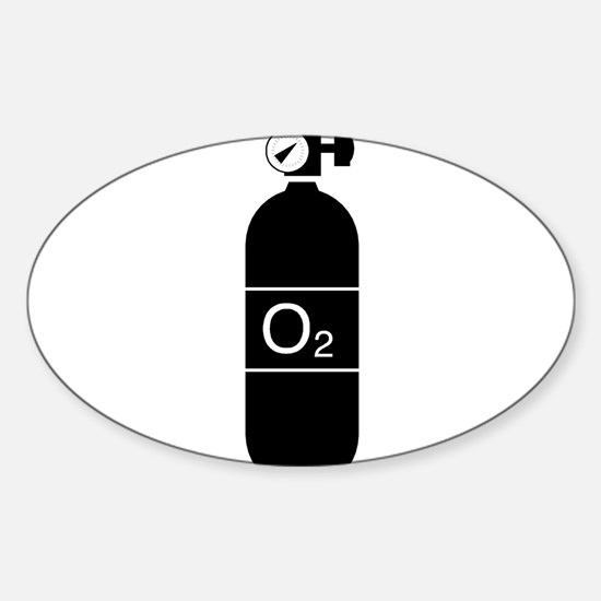 O2bottle Oval Decal