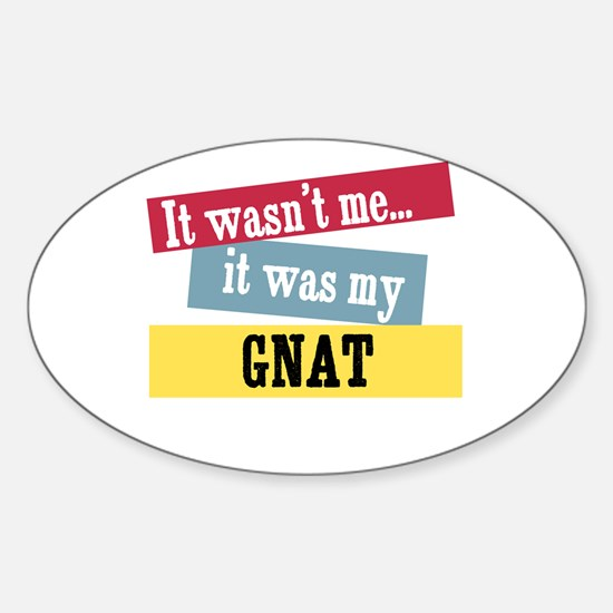 Gnat oval decal