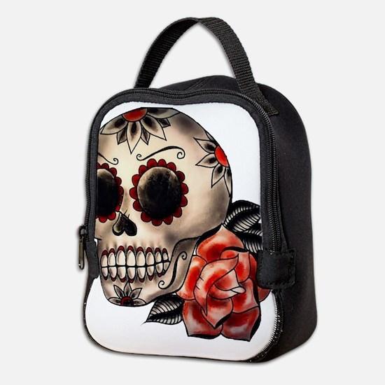 Sugar Skull 034 Neoprene Lunch Bag