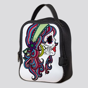 Sugar Skull 070 Neoprene Lunch Bag