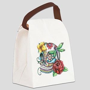 Sugar Skull 069 Canvas Lunch Bag