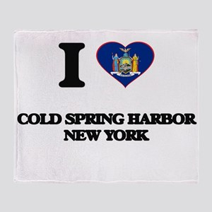 I love Cold Spring Harbor New York Throw Blanket