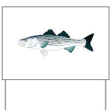 Striped Bass v2 Yard Sign