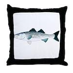 Striped Bass v2 Throw Pillow