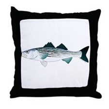 Striped Bass v2 Throw Pillow