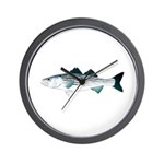 Striped Bass v2 Wall Clock