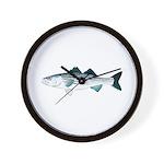 Striped Bass v2 Wall Clock