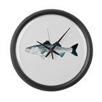 Striped Bass v2 Large Wall Clock