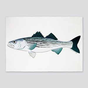 Striped Bass v2 5'x7'Area Rug