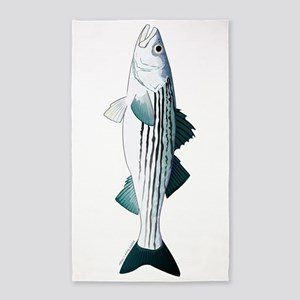 Striped Bass v2 Area Rug