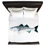 Striped Bass v2 King Duvet
