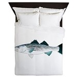 Striped Bass v2 Queen Duvet