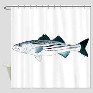 Striped Bass V2 Shower Curtain