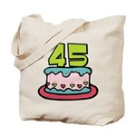 45 Year Old Birthday Cake Tote Bag