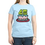 45 Year Old Birthday Cake Women's Light T-Shirt