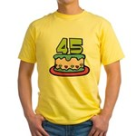 45 Year Old Birthday Cake Yellow T-Shirt