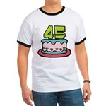 45 Year Old Birthday Cake Ringer T