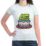 45 Year Old Birthday Cake Jr. Ringer T-Shirt