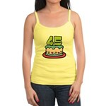 45 Year Old Birthday Cake Jr. Spaghetti Tank